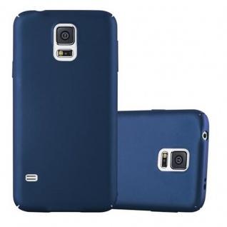 Cadorabo Hülle für Samsung Galaxy S5 / S5 NEO in METALL BLAU ? Hardcase Handyhülle aus Plastik gegen Kratzer und Stöße ? Schutzhülle Bumper Ultra Slim Back Case Hard Cover