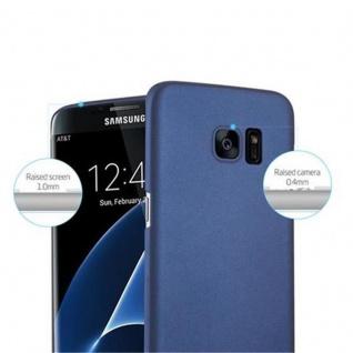 Cadorabo Hülle für Samsung Galaxy S7 EDGE in METALL BLAU - Hardcase Handyhülle aus Plastik gegen Kratzer und Stöße - Schutzhülle Bumper Ultra Slim Back Case Hard Cover - Vorschau 5