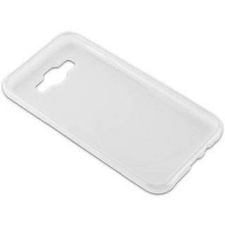 Cadorabo Hülle für Samsung Galaxy E7 2015 in HALB TRANSPARENT - Handyhülle aus flexiblem TPU Silikon - Silikonhülle Schutzhülle Ultra Slim Soft Back Cover Case Bumper - Vorschau 3