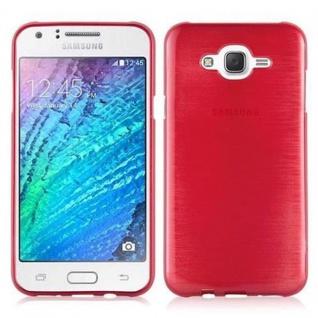 Cadorabo Hülle für Samsung Galaxy J7 2015 in ROT - Handyhülle aus flexiblem TPU Silikon - Silikonhülle Schutzhülle Ultra Slim Soft Back Cover Case Bumper