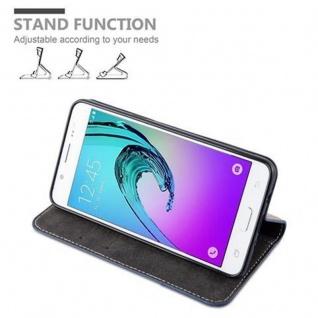 Cadorabo Hülle für Samsung Galaxy J5 2016 in DUNKEL BLAU BRAUN ? Handyhülle mit Magnetverschluss, Standfunktion und Kartenfach ? Case Cover Schutzhülle Etui Tasche Book Klapp Style - Vorschau 3