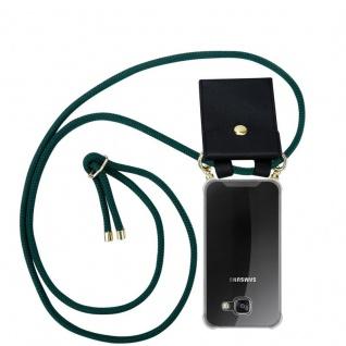 Cadorabo Handy Kette für Samsung Galaxy A3 2016 in ARMEE GRÜN - Silikon Necklace Umhänge Hülle mit Gold Ringen, Kordel Band Schnur und abnehmbarem Etui ? Schutzhülle - Vorschau 1