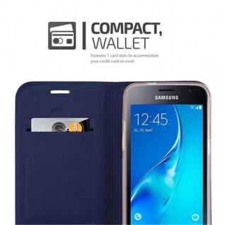 Cadorabo Hülle für Samsung Galaxy J1 2016 in CLASSY DUNKEL BLAU - Handyhülle mit Magnetverschluss, Standfunktion und Kartenfach - Case Cover Schutzhülle Etui Tasche Book Klapp Style - Vorschau 3
