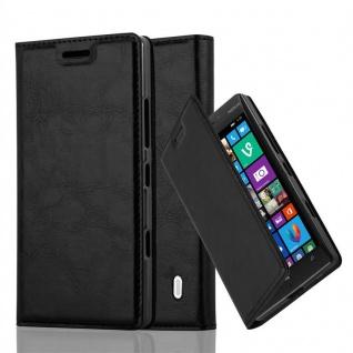 Cadorabo Hülle für Nokia Lumia 929 / 930 in NACHT SCHWARZ - Handyhülle mit Magnetverschluss, Standfunktion und Kartenfach - Case Cover Schutzhülle Etui Tasche Book Klapp Style
