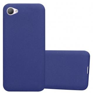 Cadorabo Hülle für HTC Desire 12 in FROST DUNKEL BLAU - Handyhülle aus flexiblem TPU Silikon - Silikonhülle Schutzhülle Ultra Slim Soft Back Cover Case Bumper