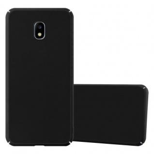 Cadorabo Hülle für Samsung Galaxy J3 2017 in METALL SCHWARZ Hardcase Handyhülle aus Plastik gegen Kratzer und Stöße Schutzhülle Bumper Ultra Slim Back Case Hard Cover