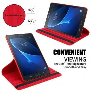 """"""" Cadorabo Tablet Hülle für Samsung Galaxy Tab A 2016 (7, 0"""" Zoll) SM-T280N in MOHN ROT ? Book Style Schutzhülle OHNE Auto Wake Up mit Standfunktion und Gummiband Verschluss"""" - Vorschau 4"""
