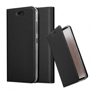Cadorabo Hülle für HTC Desire 10 Pro in CLASSY SCHWARZ - Handyhülle mit Magnetverschluss, Standfunktion und Kartenfach - Case Cover Schutzhülle Etui Tasche Book Klapp Style