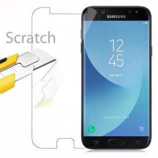 Cadorabo Panzer Folie für Samsung Galaxy J5 2017 - Schutzfolie in KRISTALL KLAR - Gehärtetes (Tempered) Display-Schutzglas in 9H Härte mit 3D Touch Kompatibilität - Vorschau 2