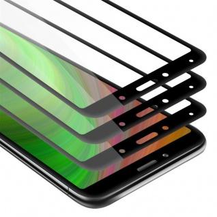 Cadorabo 3x Vollbild Panzer Folie für Xiaomi RedMi 7A - Schutzfolie in TRANSPARENT mit SCHWARZ - 3er Pack Gehärtetes (Tempered) Display-Schutzglas in 9H Härte mit 3D Touch
