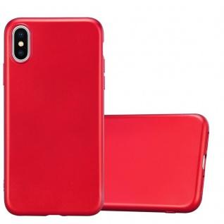 Cadorabo Hülle für Apple iPhone XS MAX in METALLIC ROT - Handyhülle aus flexiblem TPU Silikon - Silikonhülle Schutzhülle Ultra Slim Soft Back Cover Case Bumper