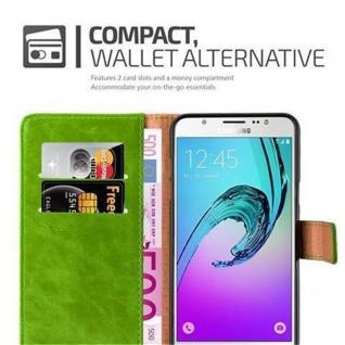 Cadorabo Hülle für Samsung Galaxy J7 2016 in GRAS GRÜN - Handyhülle mit Magnetverschluss, Standfunktion und Kartenfach - Case Cover Schutzhülle Etui Tasche Book Klapp Style - Vorschau 3
