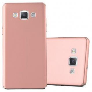 Cadorabo Hülle für Samsung Galaxy A5 2015 in METALL ROSE GOLD - Hardcase Handyhülle aus Plastik gegen Kratzer und Stöße - Schutzhülle Bumper Ultra Slim Back Case Hard Cover