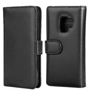Cadorabo Hülle für Samsung Galaxy S9 in OXID SCHWARZ ? Handyhülle mit Magnetverschluss und 3 Kartenfächern ? Case Cover Schutzhülle Etui Tasche Book Klapp Style - Vorschau 3