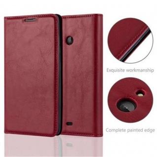 Cadorabo Hülle für Nokia Lumia 540 in APFEL ROT Handyhülle mit Magnetverschluss, Standfunktion und Kartenfach Case Cover Schutzhülle Etui Tasche Book Klapp Style - Vorschau 2