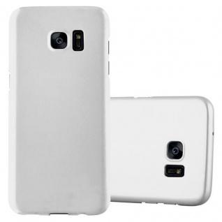 Cadorabo Hülle für Samsung Galaxy S7 EDGE in METALL SILBER ? Hardcase Handyhülle aus Plastik gegen Kratzer und Stöße ? Schutzhülle Bumper Ultra Slim Back Case Hard Cover