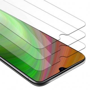 Cadorabo 3x Panzer Folie für Samsung Galaxy A70 - Schutzfolie in KRISTALL KLAR - 3er Pack Gehärtetes (Tempered) Display-Schutzglas in 9H Härte mit 3D Touch Kompatibilität