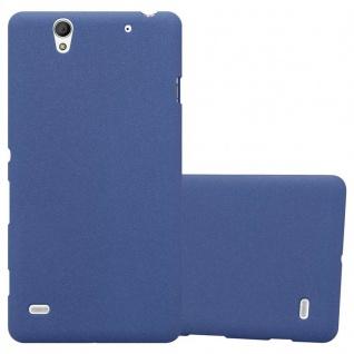 Cadorabo Hülle für Sony Xperia C4 in FROST DUNKEL BLAU - Handyhülle aus flexiblem TPU Silikon - Silikonhülle Schutzhülle Ultra Slim Soft Back Cover Case Bumper