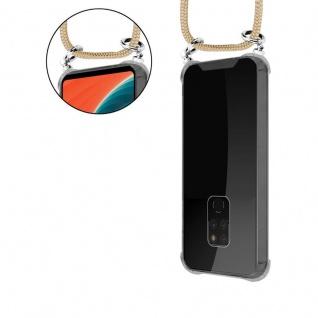 Cadorabo Handy Kette für Huawei MATE 20 in GLÄNZEND BRAUN - Silikon Necklace Umhänge Hülle mit Silber Ringen, Kordel Band Schnur und abnehmbarem Etui - Schutzhülle - Vorschau 5