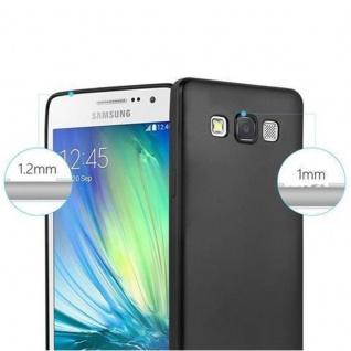 Cadorabo Hülle für Samsung Galaxy A5 2015 in METALLIC SCHWARZ - Handyhülle aus flexiblem TPU Silikon - Silikonhülle Schutzhülle Ultra Slim Soft Back Cover Case Bumper - Vorschau 2
