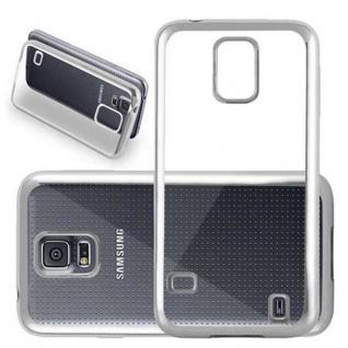 Cadorabo Hülle für Samsung Galaxy S5 / S5 NEO - Hülle in TRANSPARENT mit CHROM SILBER ? Handyhülle aus TPU Silikon im Chrom Design - Silikonhülle Schutzhülle Ultra Slim Soft Back Cover Case Bumper