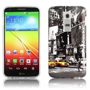 Cadorabo - Hard Cover für LG G2 - Case Cover Schutzhülle Bumper im Design: NEW YORK CAB