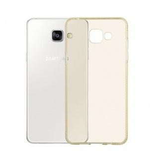 Cadorabo Hülle für Samsung Galaxy A5 2016 - Hülle in TRANSPARENT GOLD ? Handyhülle aus TPU Silikon im Strass Design - Silikonhülle Schutzhülle Ultra Slim Soft Back Cover Case Bumper - Vorschau 3