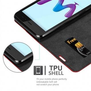 Cadorabo Hülle für WIKO SUNNY 3 in APFEL ROT Handyhülle mit Magnetverschluss, Standfunktion und Kartenfach Case Cover Schutzhülle Etui Tasche Book Klapp Style - Vorschau 2