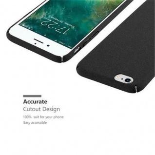 Cadorabo Hülle für Apple iPhone 6 / iPhone 6S in FROSTY SCHWARZ - Hardcase Handyhülle aus Plastik gegen Kratzer und Stöße - Schutzhülle Bumper Ultra Slim Back Case Hard Cover - Vorschau 3