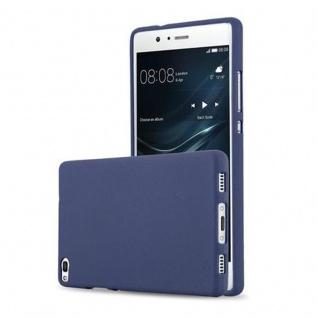 Cadorabo Hülle für Huawei P8 in FROST DUNKEL BLAU - Handyhülle aus flexiblem TPU Silikon - Silikonhülle Schutzhülle Ultra Slim Soft Back Cover Case Bumper