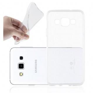 Cadorabo Hülle für Samsung Galaxy A3 2015 in VOLL TRANSPARENT - Handyhülle aus flexiblem TPU Silikon - Silikonhülle Schutzhülle Ultra Slim Soft Back Cover Case Bumper