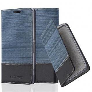 Cadorabo Hülle für Sony Xperia Z2 in DUNKEL BLAU SCHWARZ - Handyhülle mit Magnetverschluss, Standfunktion und Kartenfach - Case Cover Schutzhülle Etui Tasche Book Klapp Style