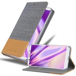 Cadorabo Hülle für Vivo V7 PLUS in HELL GRAU BRAUN - Handyhülle mit Magnetverschluss, Standfunktion und Kartenfach - Case Cover Schutzhülle Etui Tasche Book Klapp Style