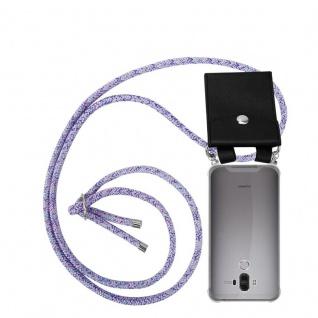 Cadorabo Handy Kette für Huawei MATE 9 in UNICORN - Silikon Necklace Umhänge Hülle mit Silber Ringen, Kordel Band Schnur und abnehmbarem Etui - Schutzhülle