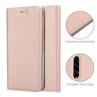 Cadorabo Hülle für Samsung Galaxy A30S in CLASSY ROSÉ GOLD - Handyhülle mit Magnetverschluss, Standfunktion und Kartenfach - Case Cover Schutzhülle Etui Tasche Book Klapp Style - Vorschau 5