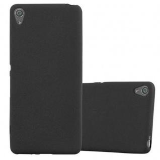 Cadorabo Hülle für Sony Xperia XA - Hülle in FROST SCHWARZ ? Handyhülle aus TPU Silikon im matten Frosted Design - Ultra Slim Soft Backcover Case Bumper