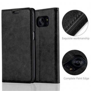 Cadorabo Hülle für Samsung Galaxy S7 EDGE in NACHT SCHWARZ - Handyhülle mit Magnetverschluss, Standfunktion und Kartenfach - Case Cover Schutzhülle Etui Tasche Book Klapp Style - Vorschau 2