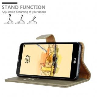 Cadorabo Hülle für LG STYLUS 2 in CAPPUCCINO BRAUN - Handyhülle mit Magnetverschluss, Standfunktion und Kartenfach - Case Cover Schutzhülle Etui Tasche Book Klapp Style - Vorschau 4