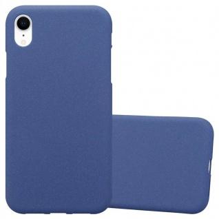 Cadorabo Hülle für Apple iPhone XR in FROST DUNKEL BLAU - Handyhülle aus flexiblem TPU Silikon - Silikonhülle Schutzhülle Ultra Slim Soft Back Cover Case Bumper