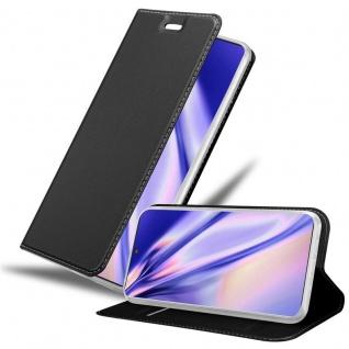 Cadorabo Hülle für Samsung Galaxy NOTE 10 PLUS in CLASSY SCHWARZ Handyhülle mit Magnetverschluss, Standfunktion und Kartenfach Case Cover Schutzhülle Etui Tasche Book Klapp Style