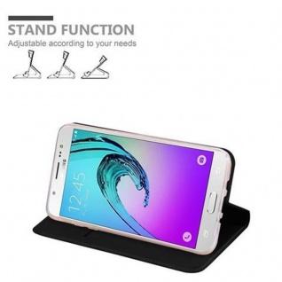 Cadorabo Hülle für Samsung Galaxy J5 2016 in CLASSY SCHWARZ - Handyhülle mit Magnetverschluss, Standfunktion und Kartenfach - Case Cover Schutzhülle Etui Tasche Book Klapp Style - Vorschau 4