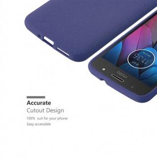 Cadorabo Hülle für Motorola MOTO G5s in FROST DUNKEL BLAU - Handyhülle aus flexiblem TPU Silikon - Silikonhülle Schutzhülle Ultra Slim Soft Back Cover Case Bumper - Vorschau 3