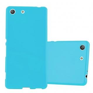 Cadorabo Hülle für Sony Xperia M5 in JELLY HELL BLAU - Handyhülle aus flexiblem TPU Silikon - Silikonhülle Schutzhülle Ultra Slim Soft Back Cover Case Bumper
