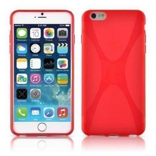 Cadorabo Hülle für Apple iPhone 6 PLUS / iPhone 6S PLUS - Hülle in INFERNO ROT ? Handyhülle aus flexiblem TPU Silikon im X-Line Design - Ultra Slim Soft Backcover Case Bumper