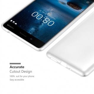 Cadorabo Hülle für Nokia 8 2017 in METALLIC SILBER - Handyhülle aus flexiblem TPU Silikon - Silikonhülle Schutzhülle Ultra Slim Soft Back Cover Case Bumper - Vorschau 5