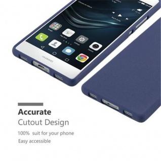 Cadorabo Hülle für Huawei P8 in FROST DUNKEL BLAU - Handyhülle aus flexiblem TPU Silikon - Silikonhülle Schutzhülle Ultra Slim Soft Back Cover Case Bumper - Vorschau 3