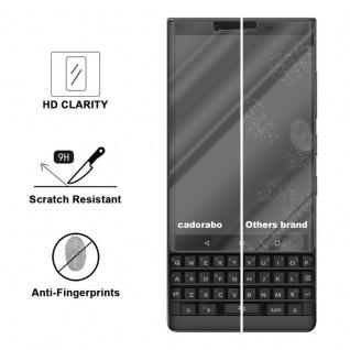 Cadorabo Panzer Folie für Blackberry KEY 2 - Schutzfolie in KRISTALL KLAR - Gehärtetes (Tempered) Display-Schutzglas in 9H Härte mit 3D Touch Kompatibilität - Vorschau 3