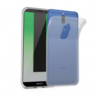 Cadorabo Hülle für Huawei MATE 10 LITE in VOLL TRANSPARENT - Handyhülle aus flexiblem TPU Silikon - Silikonhülle Schutzhülle Ultra Slim Soft Back Cover Case Bumper