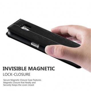 Cadorabo Hülle für Samsung Galaxy S6 in NACHT SCHWARZ - Handyhülle mit Magnetverschluss, Standfunktion und Kartenfach - Case Cover Schutzhülle Etui Tasche Book Klapp Style - Vorschau 5