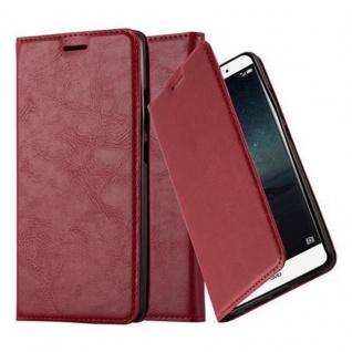 Cadorabo Hülle für Huawei MATE S in APFEL ROT Handyhülle mit Magnetverschluss, Standfunktion und Kartenfach Case Cover Schutzhülle Etui Tasche Book Klapp Style